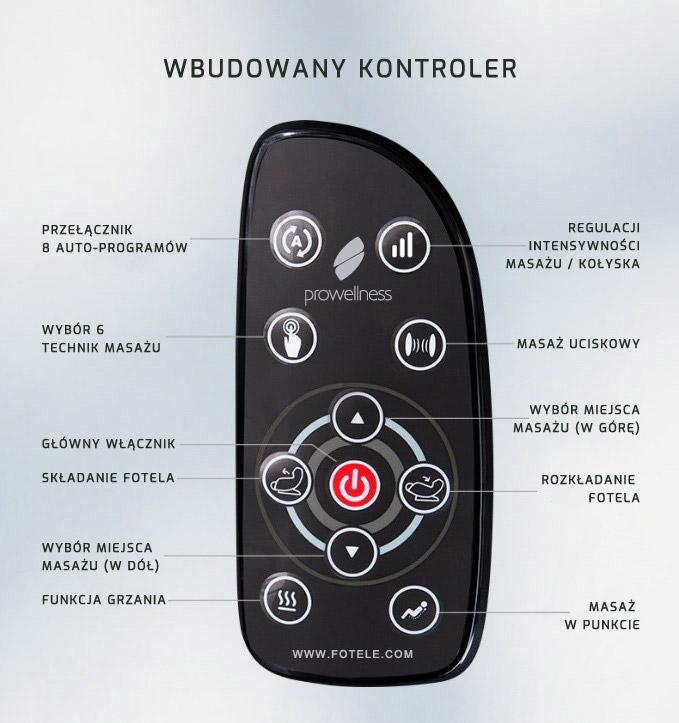 Wbudowany kontroler w fotelu z masażem PW430
