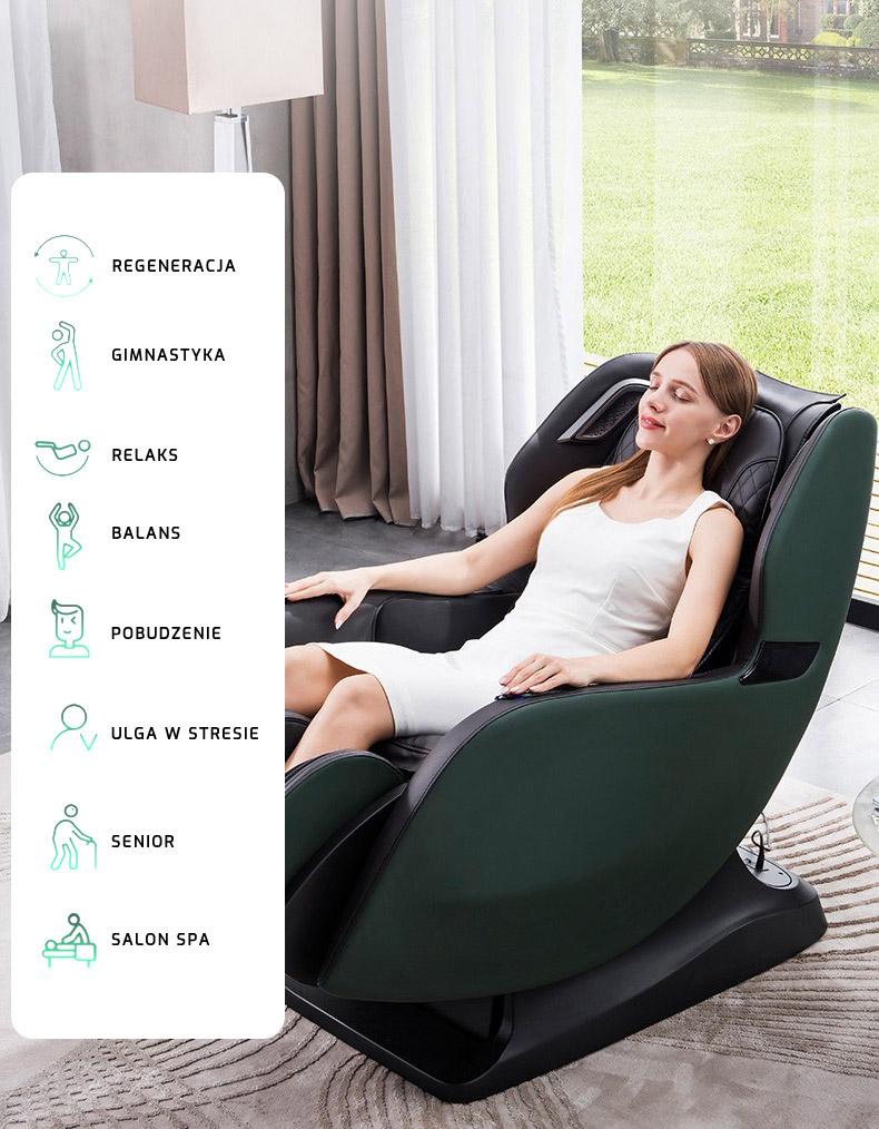 Automatyczne programy masażu w fotelu masujących PW430