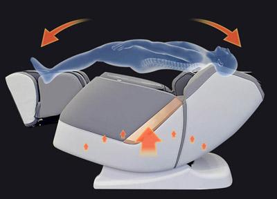 Ułożenie ciała w fotelu masującym PW530
