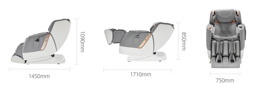 Fotel z masażem PW530 wymiary